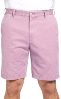 Peter Millar &Winston& Washed Twill Flat Front Shorts
