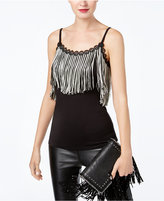 INC International Concepts Anna Sui x Fringe-Trim Tank Top, Created for Macy's