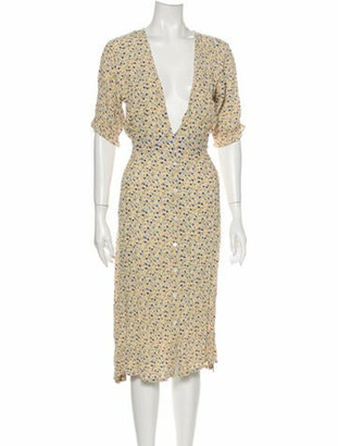 Faithfull The Brand Floral Print Midi Length Dress