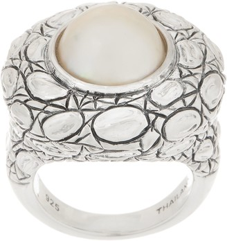 Croco JAI Sterling Silver Cultured Pearl Ring