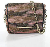 M Missoni Multicolor Gold Tone Chain Link Detail Fold Over Shoulder Handbag New
