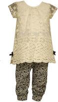 Bonnie Jean 2-pc. Short-Sleeve Lace Tunic & Pants Set - Baby Girls 3m-24m