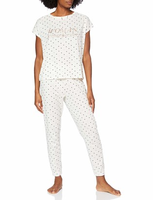 women'secret Women's Long Print Pajamas Hearts Not Applicable