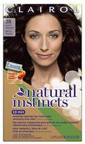 Clairol Natural Instincts Semi-Permanent Hair Color (Pack of 3), Color, Ammonia Free, Long Lasting for 28 Shampoos