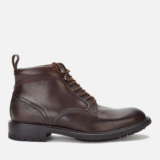 Ted Baker Men's Wottsn Leather Lace Up Boots - Brown - UK 7 - Brown
