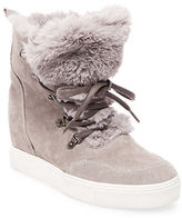 Steve Madden Lift Round Toe Faux Fur Ankle Boots