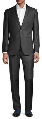 Saks Fifth Avenue Modern-Fit Wool Check Suit
