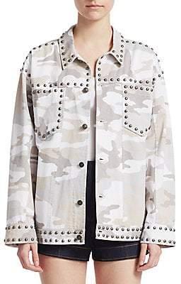 Cinq à Sept Women's Studded Camouflage Jacket