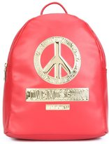 Love Moschino peace plaque backpack