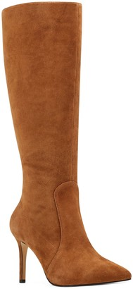 Nine West Slim Heel Leather Boots - Fivera