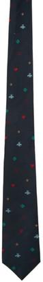 Gucci Navy Silk Symbols Tie
