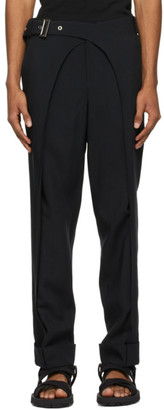 Situationist SSENSE Exclusive Black Wool Double Arch Trousers