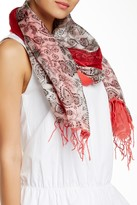 Michael Stars Paisley Silk Blend Scarf