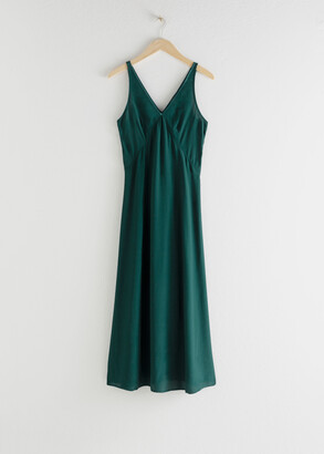 And other stories Flowy V-Neck Midi Dress