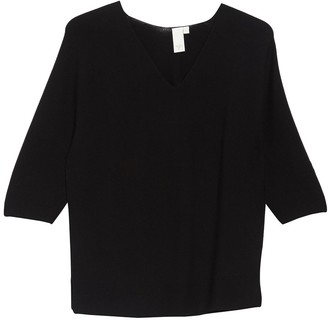 Ady P Elbow Sleeve V-Neck Sweater