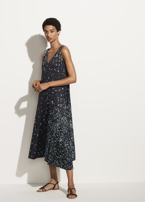 Vince Scattered Floral Satin Dress