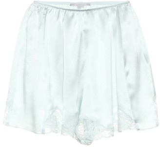 Stella McCartney Silk satin shorts