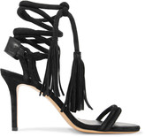 Isabel Marant Amina lace-up leather-trimmed suede sandals