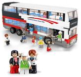Luxurious Double Decker Bus Block Set