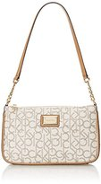 Calvin Klein Splatter Printed Monogram Demi Shoulder Bag