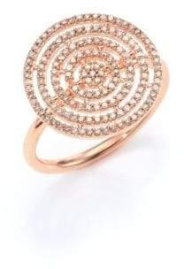 Astley Clarke Icon Aura Grey Diamond & 14K Rose Gold Ring