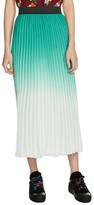 Maje Women's Dip Dye Pleated Midi Skirt