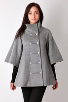 Grey Bat Cape Batwing Sleeve Coat