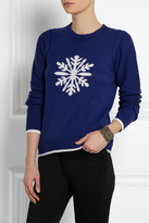 Sea Snowflake-intarsia knitted sweater