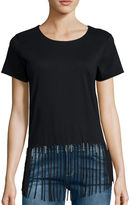 i jeans by Buffalo Short-Sleeve Fringe Tee