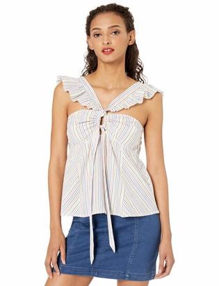 Ella Moss Women's Carol Striped Woven Top