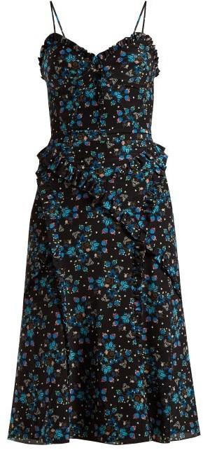 Altuzarra Menara Floral-print Dress - Womens - Black Print