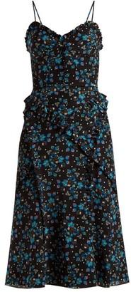 Altuzarra Menara Floral-print Dress - Black Print