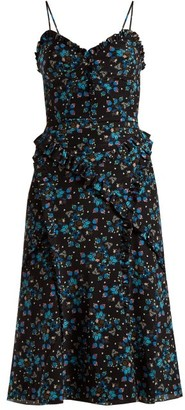 Altuzarra Menara Floral-print Dress - Womens - Black Print