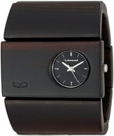 Vestal Women's RSW004 Rosewood Burnt Ebony Wood Bangle Watch