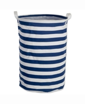 Design Imports Laundry Hamper Stripe, Round