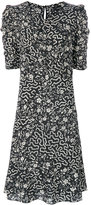 Isabel Marant floral and geometric print ruched dress - women - Silk/Spandex/Elastane - 36