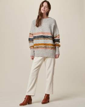 Sessun Stone Rose Wool Seldovia Womens Pullover - wool | Stone rose | xsmall