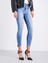 Good American Good Legs stepped hem skinny high-rise jeans