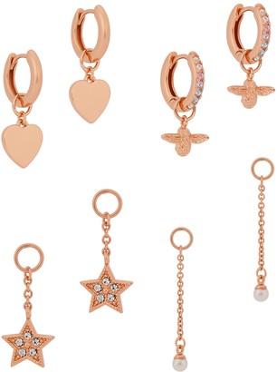 Olivia Burton House Of Huggies rose gold-plated hoop earrings gift set