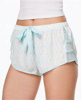 Betsey Johnson Mesh-Ruffle Shorts