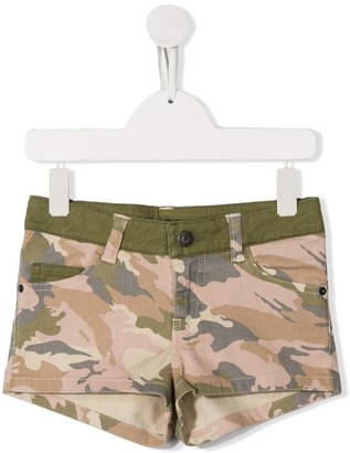 Zadig & Voltaire Kids Camouflage Print Shorts