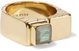 Cornelia Webb Slized gold-plated labradorite ring