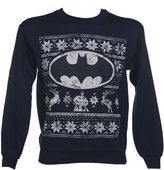 TruffleShuffle Unisex Navy DC Comics Batman Fair Isle Christmas Sweater