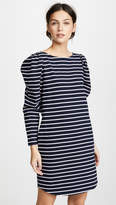 Rebecca Taylor Long Sleeve Yard Dyed Dress with Stripes