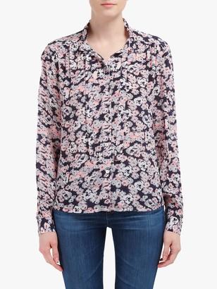 Lily & Lionel Devon Floral Print Shirt, Navy Blossom