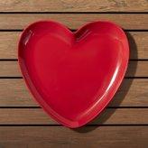 Crate & Barrel Valentine Heart Melamine Plate