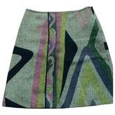 Emilio Pucci Grey Wool Skirt for Women