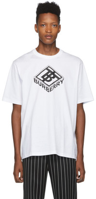 Burberry White Logo Ellison T-Shirt