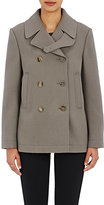 Helmut Lang Women's Double-Breasted Crop Peacoat-LIGHT GREY