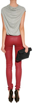 Juicy Couture Oxblood Red Luxe Leather Pants